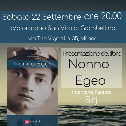 SirJ presenta Nonno Egeo a Milano 22 Settembre