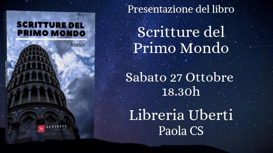 Presentazione Scritture del primo mondo, Aliasor aka Andrea Serpa